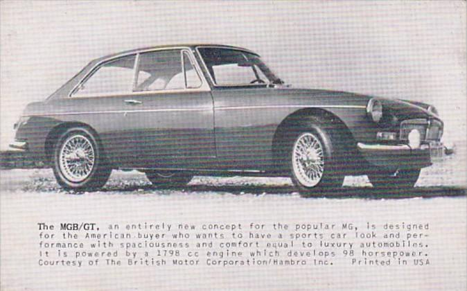 MGB/GT Bbritish Motor Corporation/Hambro