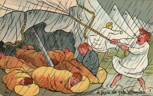 UK Comic Military; 1900-10s ; A Taste of the Weather