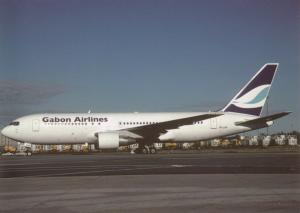 Airline issue postcard Blue Panorama Airlines Boeing 767-300ER