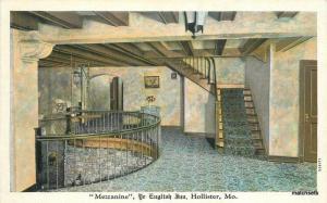 1920s Ye English Inn Hollister Missouri interior Teich postcard 11007