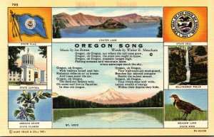Oregon State Flag Seal Flower Bird and More Curteich