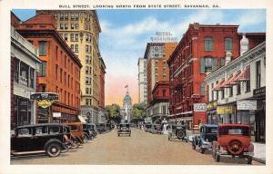 Savannah Georgia~Bull Street~Union Bus Depot~McCrory's~Cafe~1920s Cars~Linen PC
