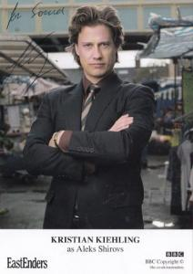 Kristian Kiehling as Aleks Shirovs BBC Eastenders Hand Signed Cast Card Photo
