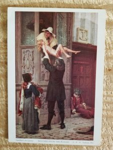 RESCUED FROM THE PLAGUE-TOPHAM.VTG UNUSED ART POSTCARD.RARE*P10