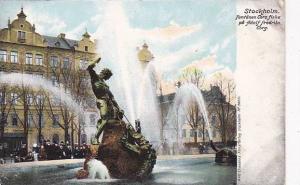 Fontanen Tors Fiske Pa Adolf Fredriks Torg, Stockholm, Sweden, 1900-1910s