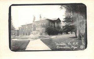 LPSS43 Evanston Wyoming Uinta County Court House Postcard RPPC