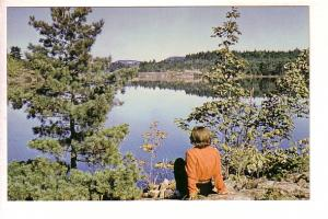 Woman Setting by Lake, Peaceful Pause, Ontario, Alex Wilson, Dryden