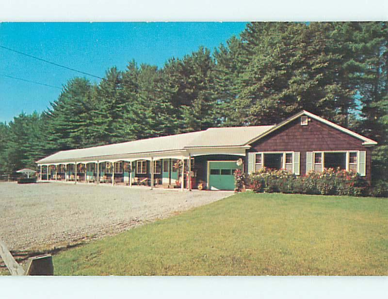 Unused Pre 1980 SUBURBAN PINES MOTEL Windham Maine ME S4784