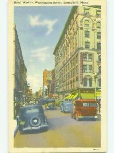 Linen SHOPS ON STREET & WORTHY HOTEL Springfield Massachusetts MA HQ3434