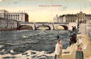 Sweden Old Vintage Antique Post Card Norrstrom Stockholm Postal Used Unknown