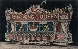 LEEDS , Yorkshire , UK , 00-10s ; Illuminated Electric Car, Royal Visit