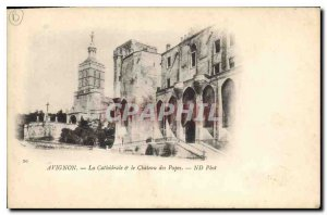 Postcard Old cathedral Avignon Popes and chetau