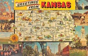 Maps Kansas USA 1966