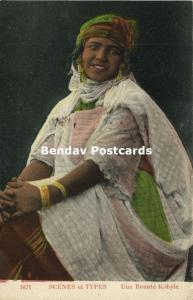 algeria, Beautiful Young Kabyle Girl, Earring Jewelry (1920s)