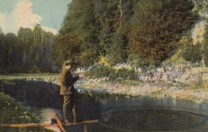 PENNSYLVANIA, 1912; Man Fishing