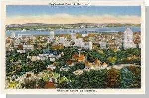 Montreal, Quebec,Canada Postcard,Central Part/Quartier Cenre