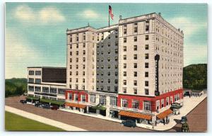 Postcard WV Charleston The Daniel Boone Hotel Vintage Linen R02