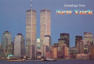 NEW YORK CITY , 1980s ; kyline w/ The World Trade Center