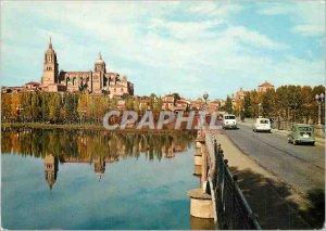Postcard Modern Salamanca Cathedral and New Bridge