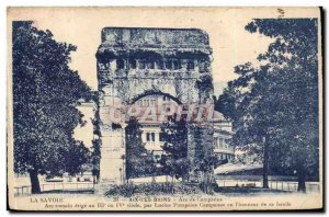 Aix les Bains Old Postcard Arch of Campanus Roman arch erected at 3 and 4th c...