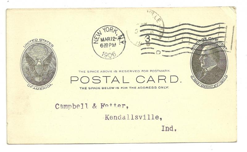 Postal Card, National Bank of Commerce in New York, 1906