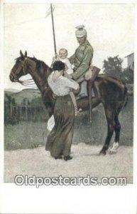 Artist B.W. Signed Artist 1915 light indentation in card
