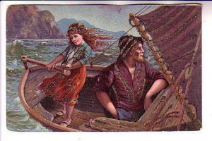 Mariner with Pipe, Girl at Rutter, At Sea, Glitter