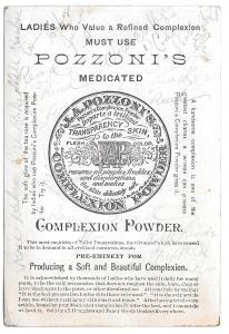 Pozzoni's Medicated Complexion Powder Victorian Trade Card The Dessert Children