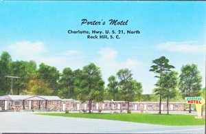 Rock Hill SC - ​ PORTERS MOTEL on US 21 North 1950s