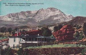Colorado Pikes Peak Balanced And Steamboat Rocks Garden Of Gods Pikes Peak In...