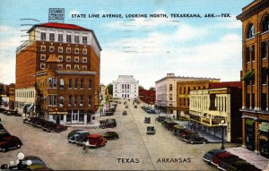 Texas Texarkana State Line Avenue Looking North 1949