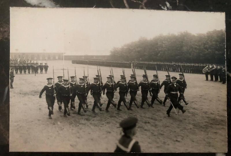 Mint Germany Real Picture Postcard RPPC Our Navy Kaiserliche Marine Parade WW1