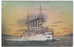 USS Protected Cruiser, Milwaukee, St Louis Class PPC, Unposted, USN