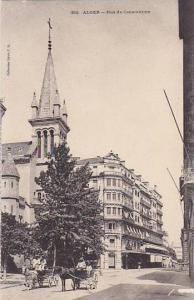 Horse Carts, Rue De Constantine, Alger, Algeria, Africa, 1900-1910s