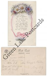 1917 Sympathy, So glad your better, 'Tis welcome news I ...
