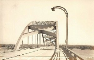 LP63 Centennial Bridge Davenport Iowa Vintage Postcard RPPC