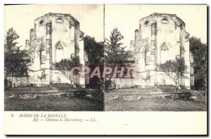 Old Postcard Banks of the Moselle Castle Marienburg