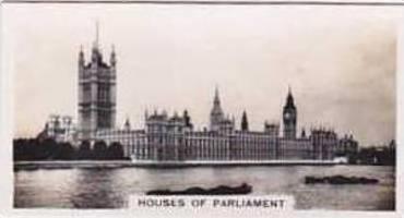 Carreras Vintage Cigarette Card Views Of London No 18 Houses Of Parliament