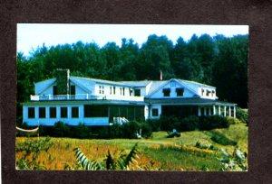 VT Twist O'Hill Ohill Lodge Cottages Williston Vermont Postcard Near Burlington