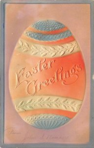 LP35 Easter Postcard Decorated Egg Holiday