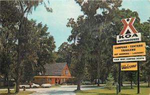 Lake Park Georgia~KOA Florida-GA Kampgrounds~Rt 2~A Frame Lodge~1960s