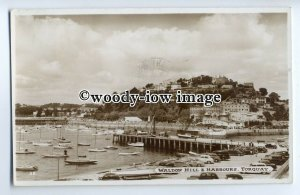 tp9115 - Devon - Waldon Hill and Harbours c1950s, at Torquay - postcard