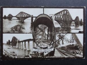 Scotland: Forth Bridge 5 Image Multiview - c1924 Old Postcard