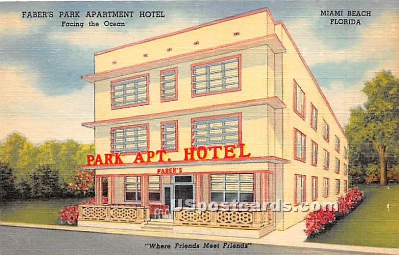 Faber's Park Apartment Hotel Miami Beach FL Unused