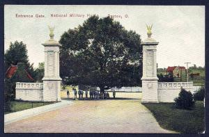 National Military Home Entrance Gate Dayton OH used c1908