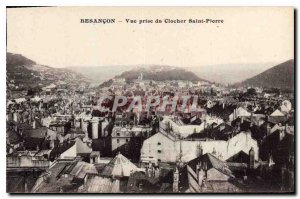 Old Postcard Besancon taking view of St. Peter Bell
