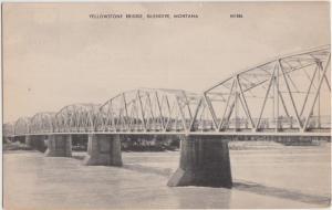 Montana Mt Postcard Old GLENDIVE Yellowstone Bridge
