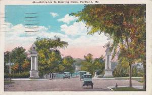 Maine Portland Entrance To Deering Oaks 1932