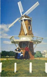 Windmill Edam SK Sask Dutch Settlers 75th Anniversary Saskatchewan Postcard D6