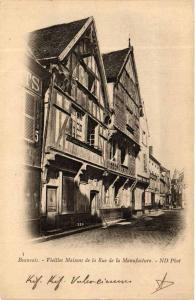 CPA BEAUVAIS Vieilles Maisons de la Rue de la Manufacture (375695)